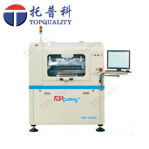 topquality CC-400高精度、高刚性一体化框架式机身结构全自动锡膏印刷机